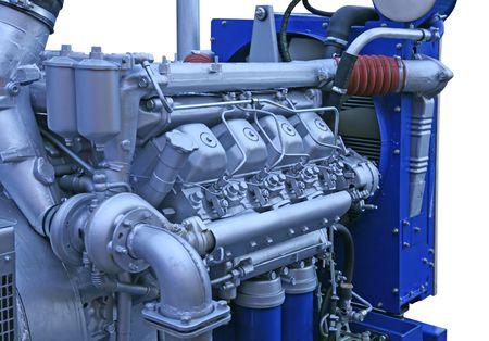 generador: Close up disparo del motor de plata cromo