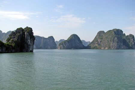 Landscape of a gulf and islands Halong Bay in Vietnam photo