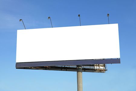 Blank billboard on blue sky ready for your advertisement Stock Photo - 6315506