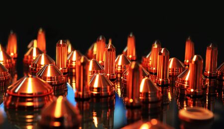 Special copper tips for welding mig-mag  method Stock Photo - 9964871