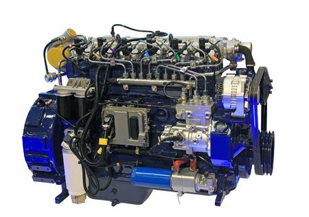 Close-up shot van turbo diesel motor Stockfoto