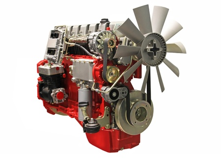 Close-up shot van turbo diesel motor