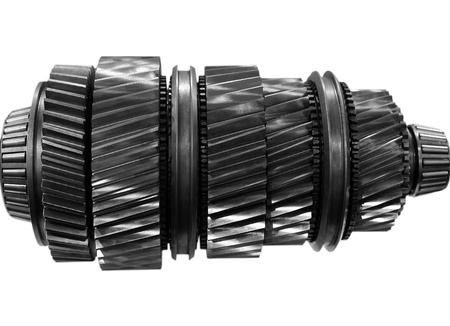 big new automobile gear on isolated background photo