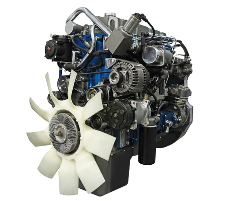 diesel generator: Close up shot of turbo  diesel engine