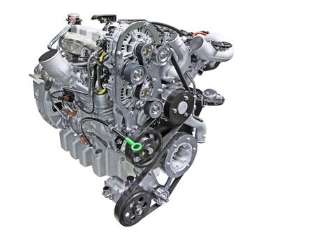 Gros plan d'un moteur turbo diesel Banque d'images