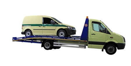 road assistance: tow car under the white background