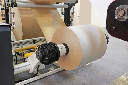 cutter:  offset print machine for newspaper production from big rolls of paper.