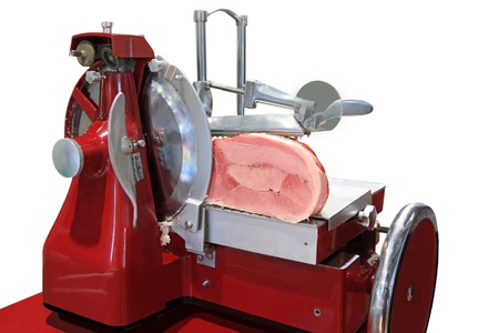 slicing: The mechanism for ham cutting at restaurant and a supermarket