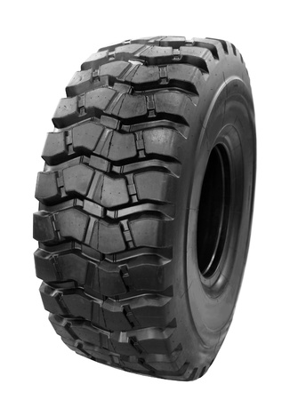 off: 4x4 off-road vehicle tire on isolated on white background