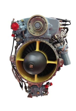 chamber of the engine: Detailed exposure of a turbo jet engine for helicopter Stock Photo