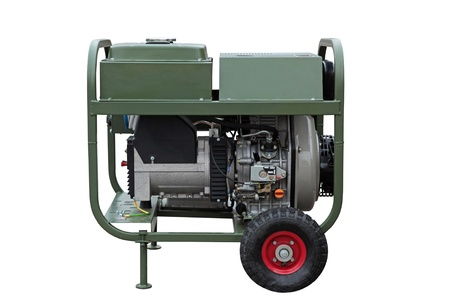 diesel generator: Mobile electric power generator for emergency situations