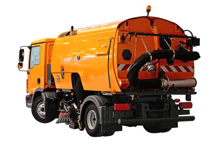Street sweeper with the vacuum cleaner for cleaning of highways