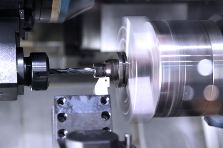 workpiece: The machine for processing of details from metal in work