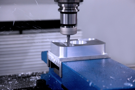 cnc: The machine for processing of details from metal in work