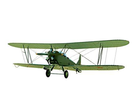 named: Soviet aircraft named Polikarpov Po-2 isolated on a white background Editorial