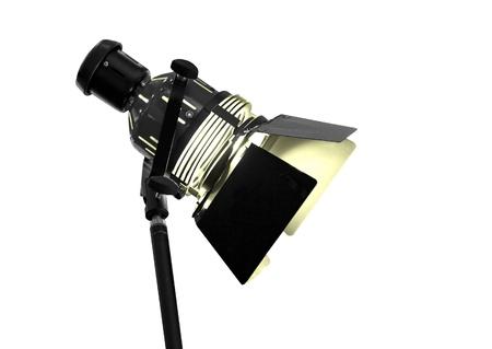 monolight: Studio strobe isolated on the white background  Stock Photo