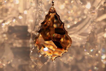 crystal strass for the lamp in brown tones for  luxury interior design  photo