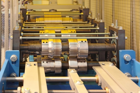 the rolling machine for hire thin sheet staly and profile formations Stock Photo - 16461957
