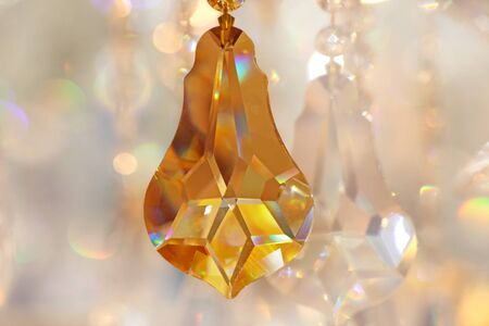 strass: crystal strass for the lamp in brown tones for  luxury interior design