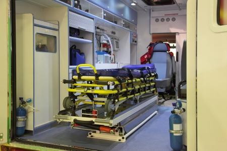vehicle interior: Ambulance Car Interior With No People
