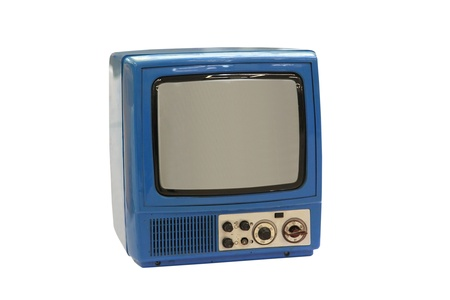 Vintage 1960s Portable Television isolated on white Stock Photo - 17472071