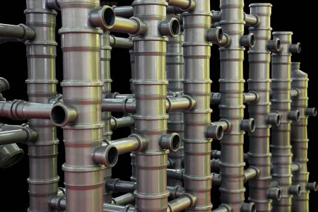 Abstract Composition from Plastic Pipes for Sewerage photo