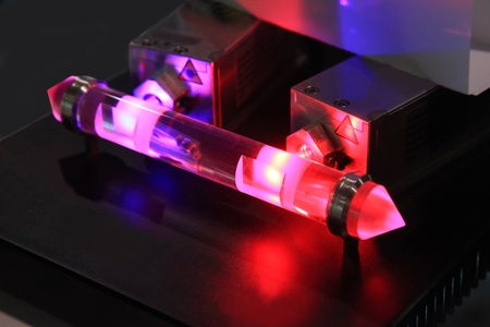 coherent: The Light Of The Laboratory Of Lasers Stock Photo