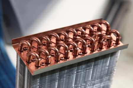hot cold: Industrial Cooling Unit Water-to-air Heat Exchanger fragment