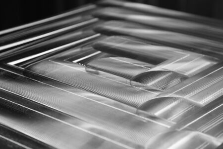 roughness: Traces of processing tool on a flat surface of steel billets