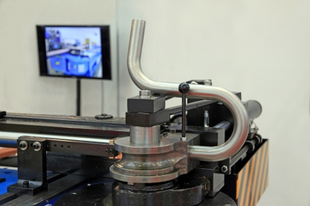 Special machine for bending of pipes with different angles
