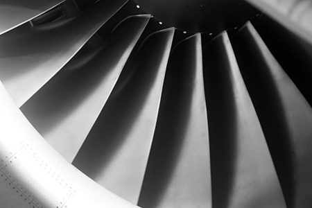 Tturbine blades jet engine aircraft civil photo  photo
