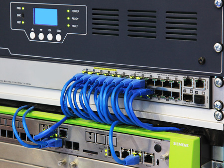 network port: Data patch panel connection and digital communications