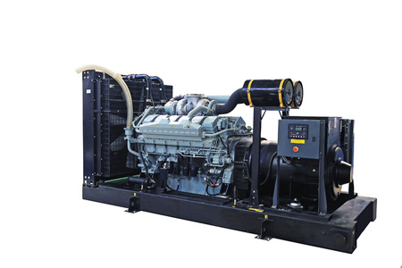 緊急電力モバイル ディーゼル発電機 写真素材
