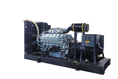 energia electrica: Generador diesel m�vil de energ�a el�ctrica de emergencia Foto de archivo