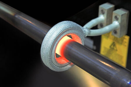 heated: steel pipe is heated by the high frequency inductor