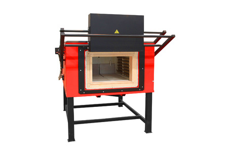 Laboratory furnace for heating steel up to 1000 C
