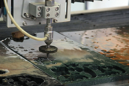 Machine for cutting stone water jet high pressure