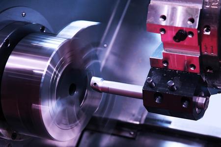 milling detail on metal cutting machine tool at factory