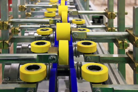 roller conveyor for furniture manufacture for forming furniture parts photo