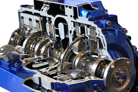 car transmission: Automotive transmission gearbox with lots of details