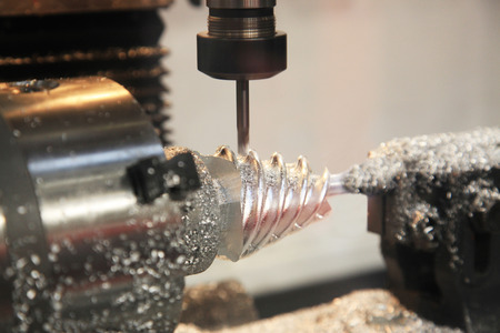 milling complex spiral parts on CNC lathe