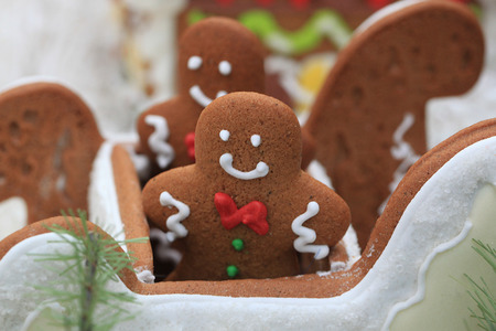gingerbread cookies gingerbread sledge - gift for kids photo