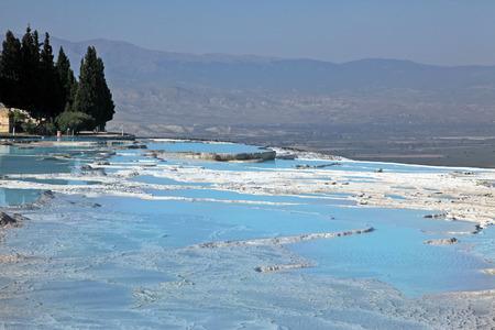 Natural travertine pools and terraces, Pamukkale, Turkey