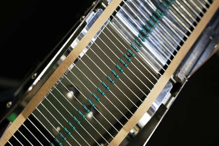 resistors: resistors on tape for mounting on printed circuit boards Stock Photo
