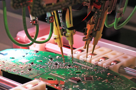 Robot for control of printed circuit boards and electrical signals