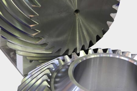 Engage and transfer torque helical bevel gears