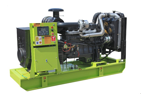 diesel generator: Mobile electric power generator for emergency situations Stock Photo