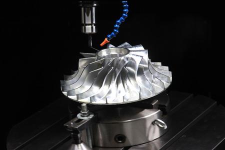 impeller: Milling machine CNC handles the pump impeller complex shape