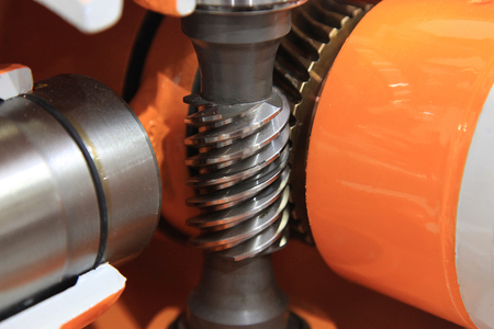 Worm gear, a part of the mechanism used to drive the car Stock Photo