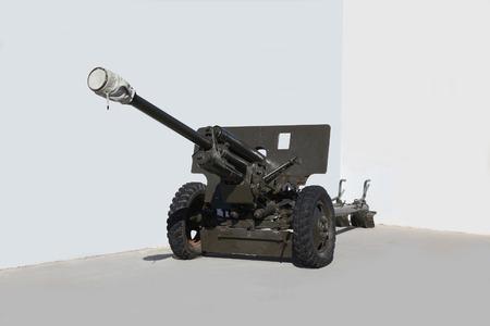seconda guerra mondiale: Soviet anticarro 76 millimetri pistola della Seconda Guerra Mondiale Archivio Fotografico